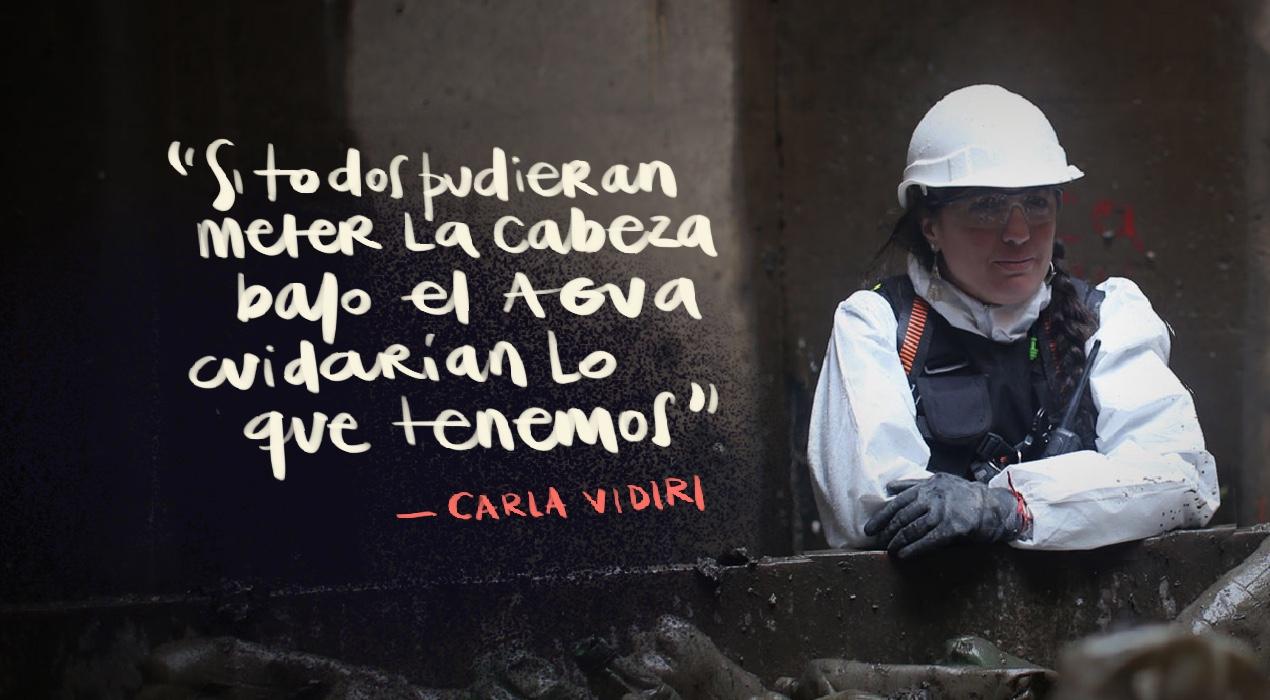 """Carla Vidiri: """"Debajo de la ciudad hay otra ciudad que muy pocos conocemos"""""""
