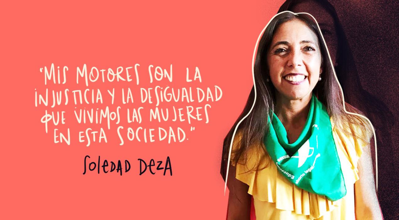 """Soledad Deza: """"Las mujeres vivimos cadenas de injusticias en todos los ámbitos"""""""