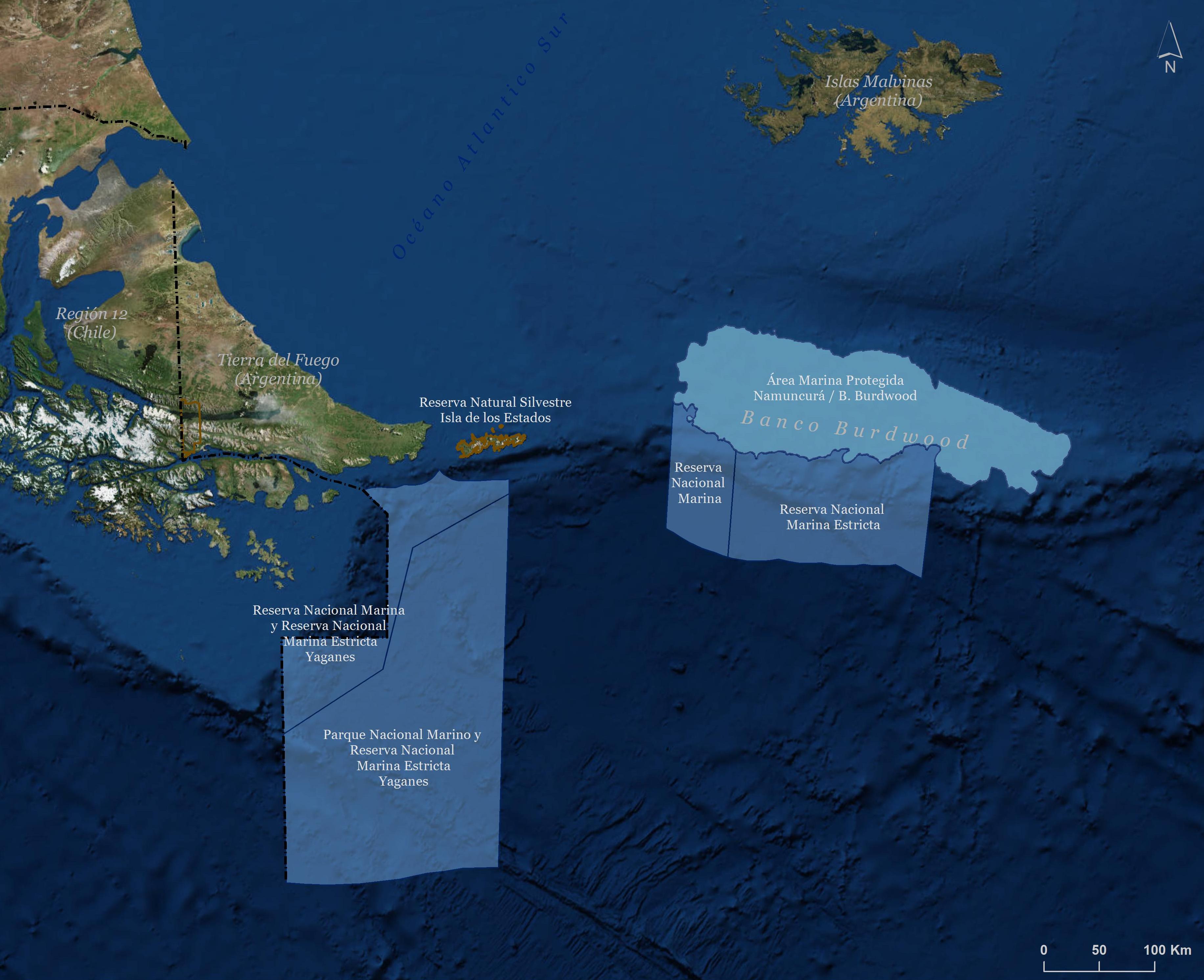 Las reservas estarían frente a Tierra del Fuego. | Crédito: The Conservation Land Trust