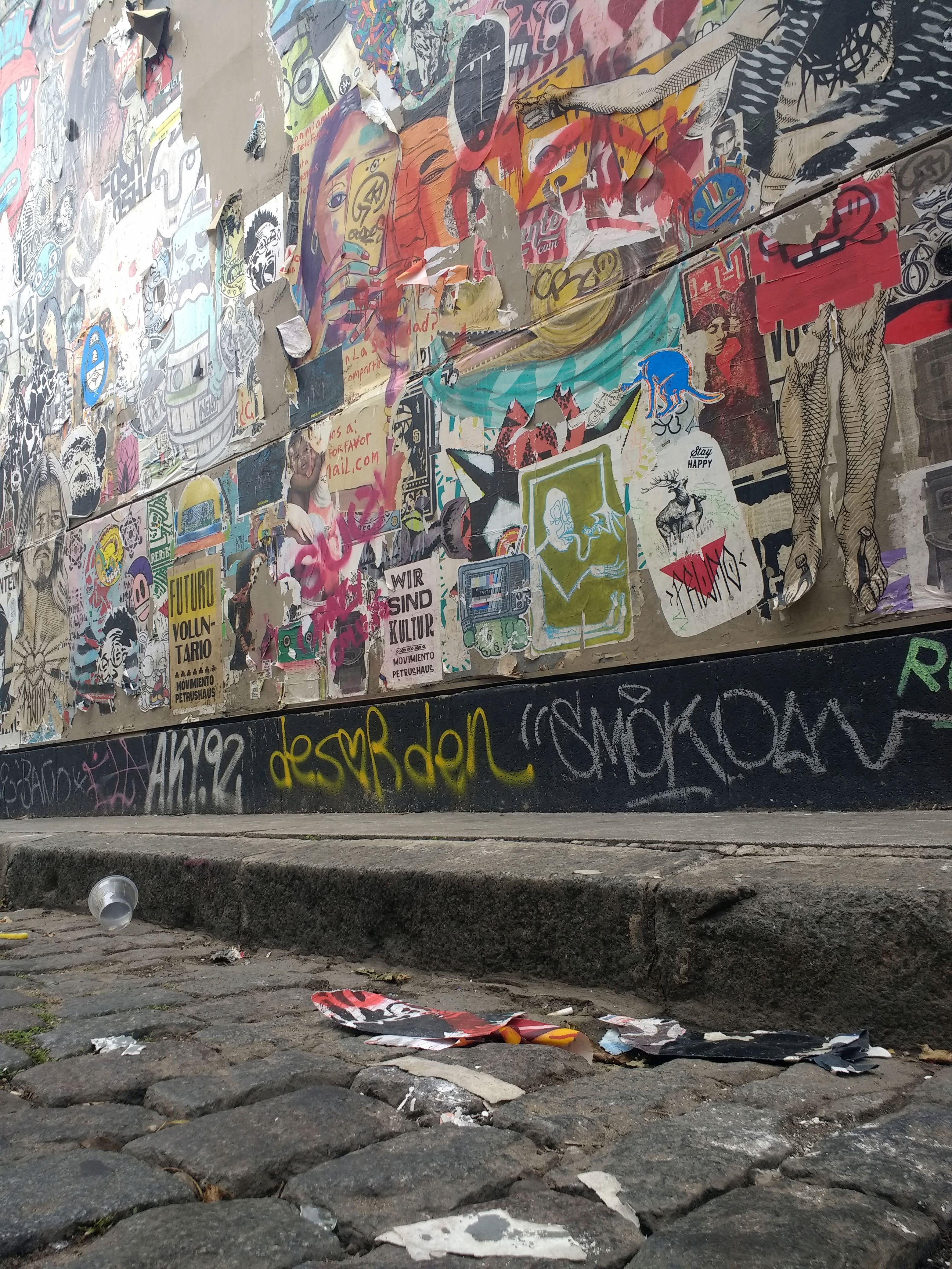 El mismo mural de Palermo, luego de las lluvias.