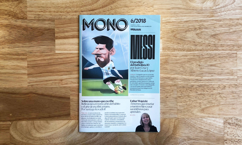 MONO #2, la revista desplegable de RED/ACCIÓN: la infografía total de Messi, la escritura a mano y Esther Wojcicki