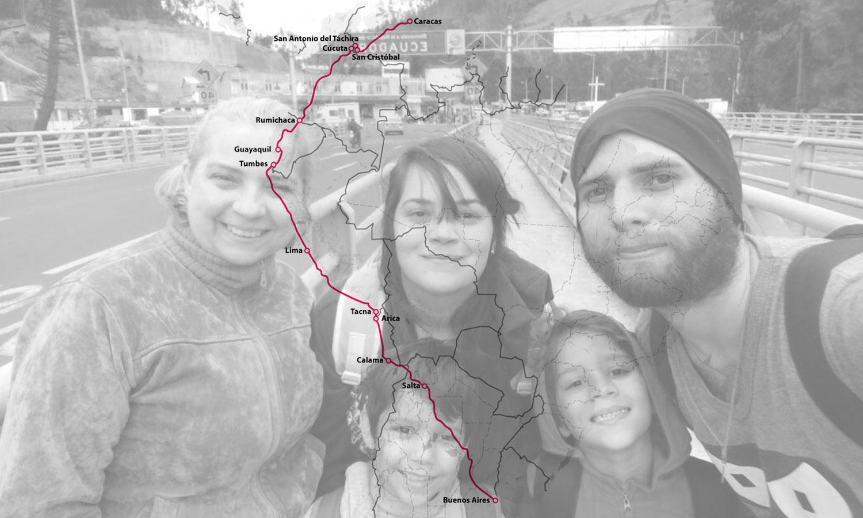 El largo viaje de los venezolanos hacia la Argentina