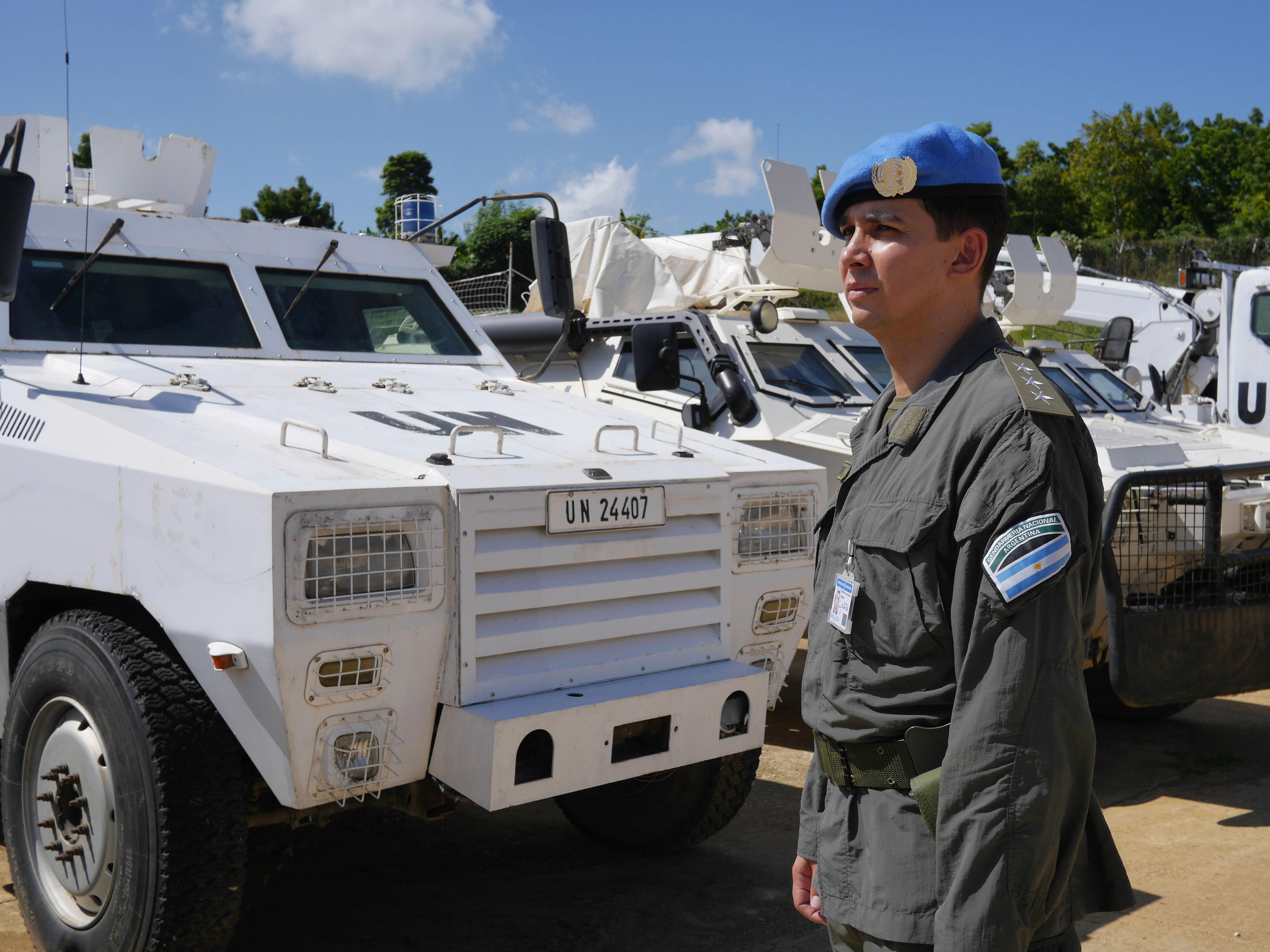 El legado que quieren dejar 10 cascos azules argentinos en Haití ... c347f20c49c26