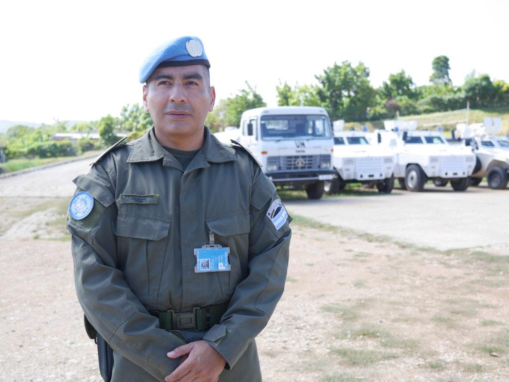 El comandante Francisco Montero está en Haití desde diciembre de 2017.