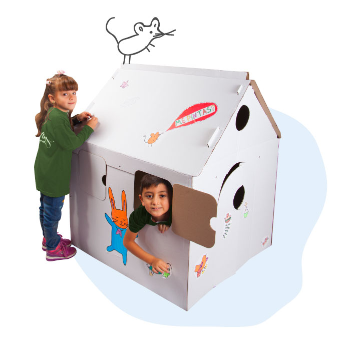 Ondulé produce juegos con cartón reciclado por cooperativas.