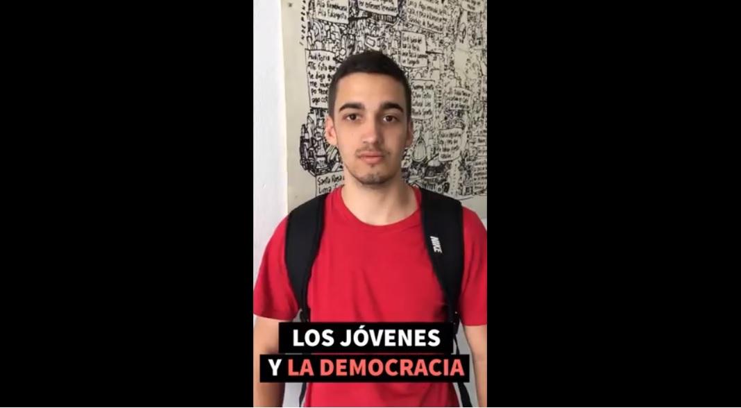 El día de la democracia, los jóvenes contaron qué significa para ellos