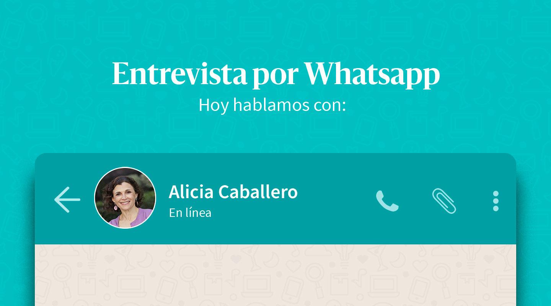 """Alicia Caballero: """"Nada impide que una mujer se destaque en su vida profesional si se lo propone"""""""