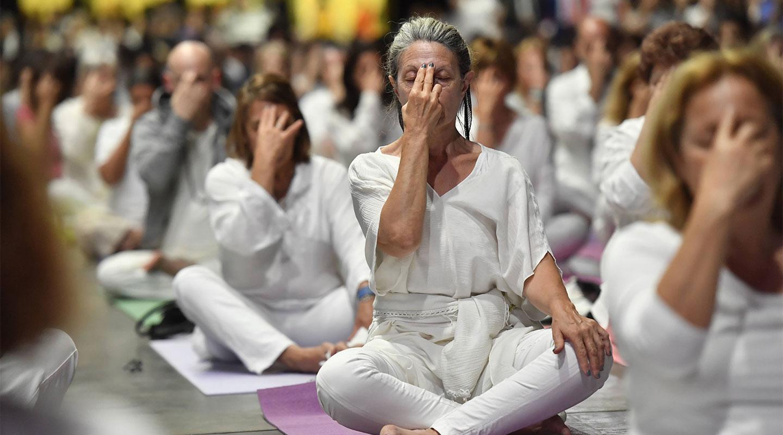 Galería de fotos: Yoga en el G20