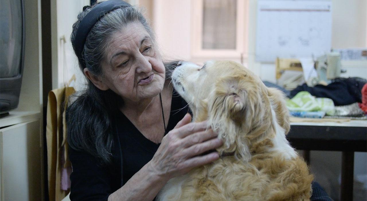 Nieves tiene 80 años, es una eximia modista, sufre agorafobia, pero salió de su casa para recuperar a su perra