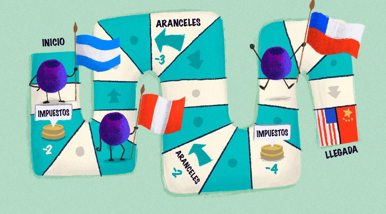 La carrera de obstáculos del arándano argentino: aranceles, competidores y… smoothies