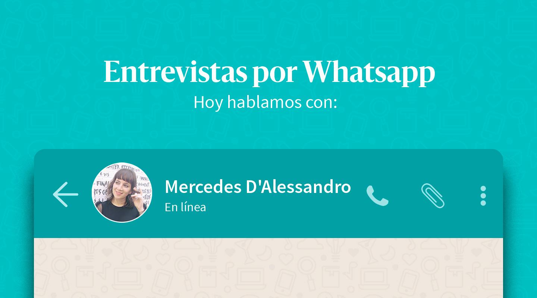 """Mercedes D'Alessandro: """"Me decepcionan quienes piensan que ser feminista es odiar a los hombres"""""""
