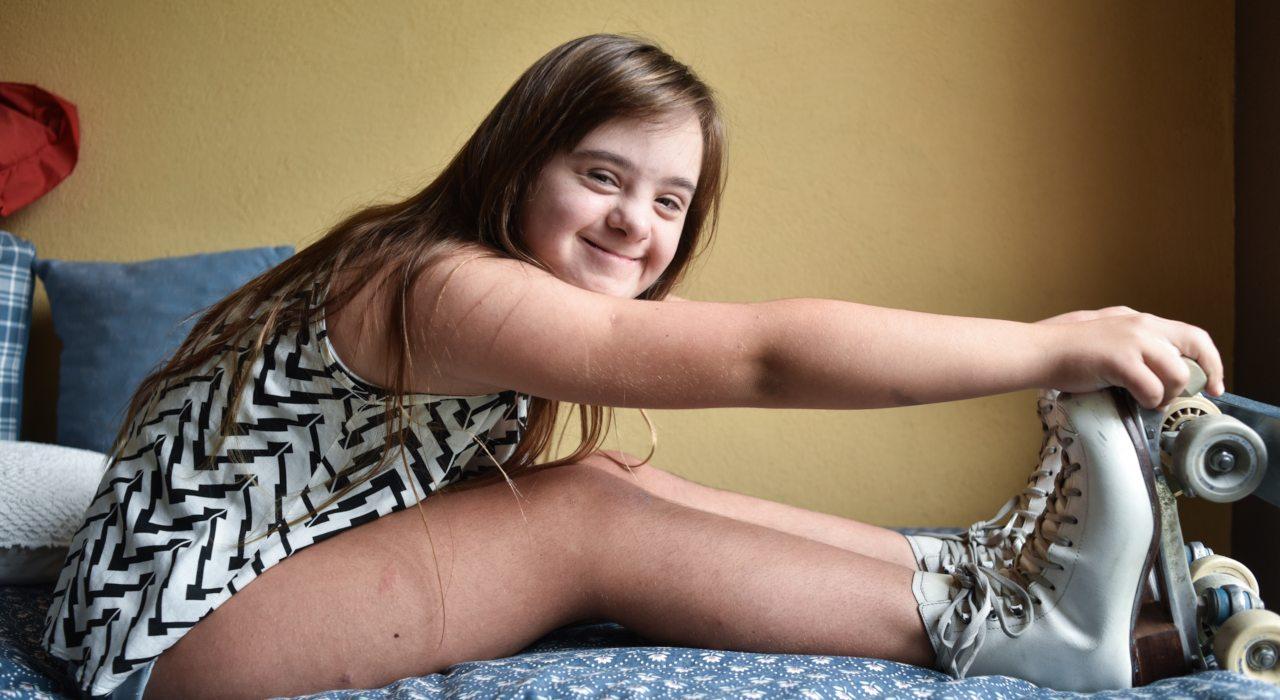 Melina: la campeona nacional de patinaje artístico con 47 cromosomas que espera viajar al sudamericano