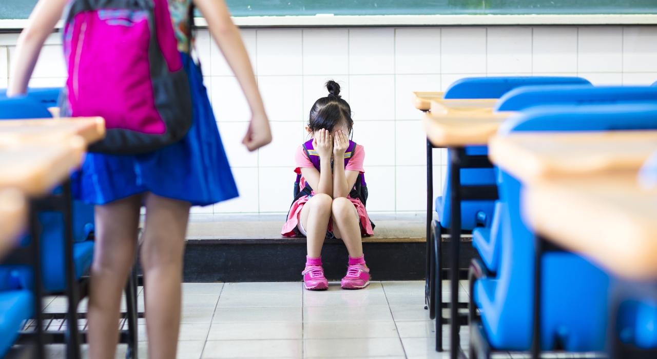 """Retrato del acosador y de la víctima de """"bullying"""""""