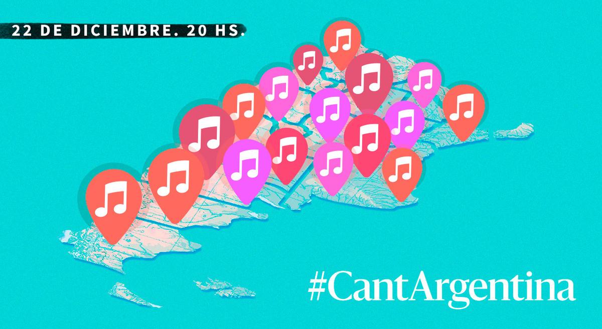 #CantArgentina: el domingo entonamos la misma canción en por lo menos 300 ciudades del país