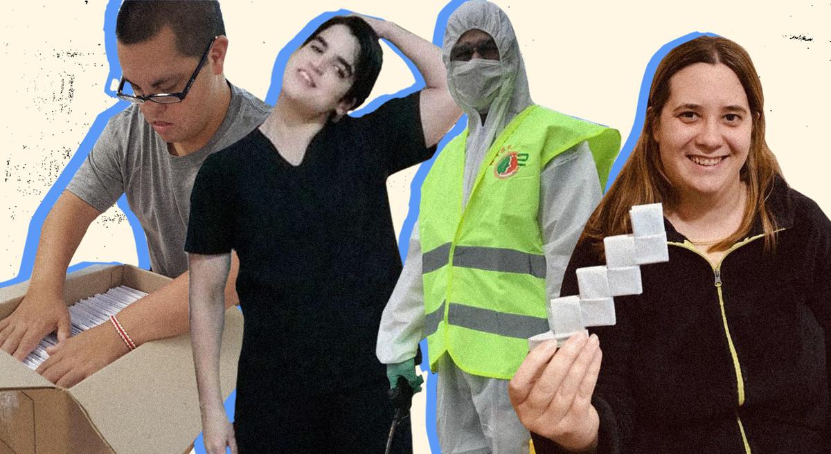 Cómo hacen las personas con discapacidad para reconvertirse, tener trabajo y ayudar durante la pandemia