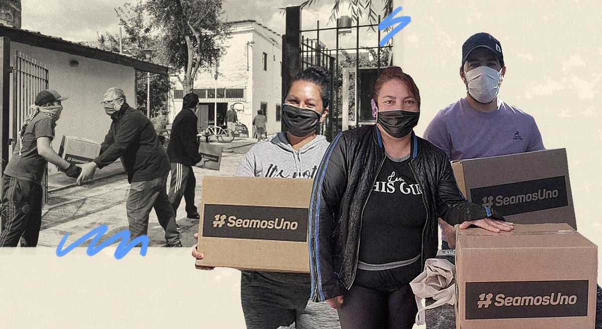 Cómo se gestó Seamos Uno, la campaña de ayuda social que en 38 días lleva distribuidas más de 120.000 cajas de alimentos