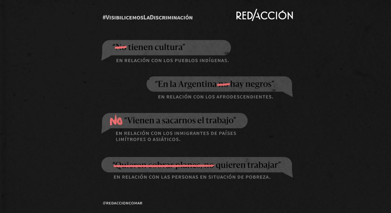 Visibilicemos la discriminación: frases racistas o prejuiciosas que queremos cambiar