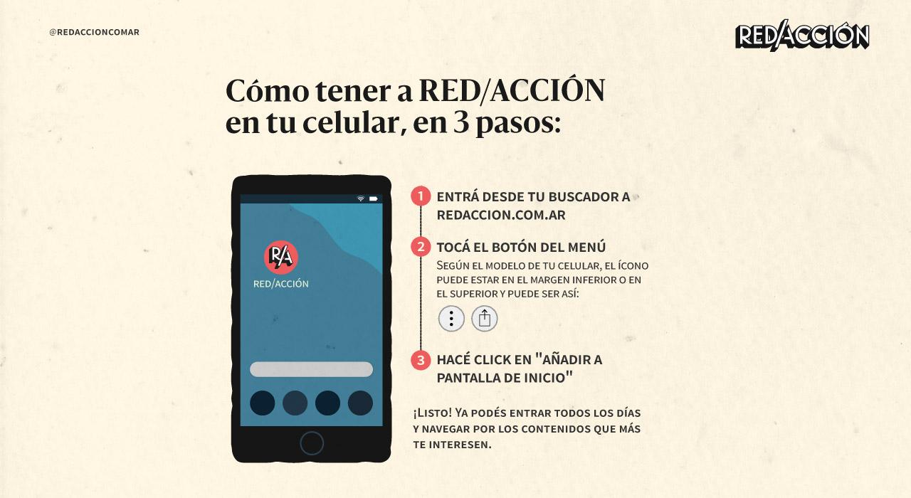 Cómo tener a RED/ACCIÓN en la pantalla de inicio de tu celular