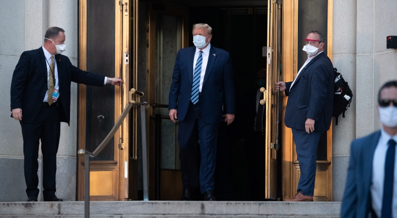 Las mentiras que contagiaron a Trump