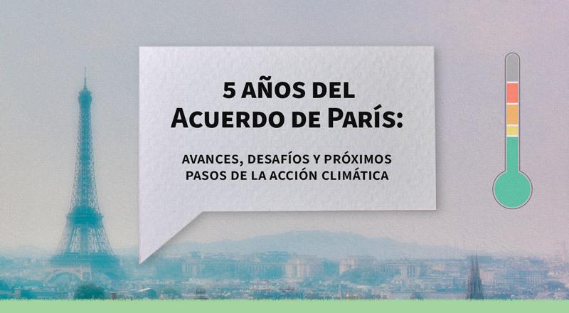 A cinco años del Acuerdo de París en cambio climático: avances y desafíos