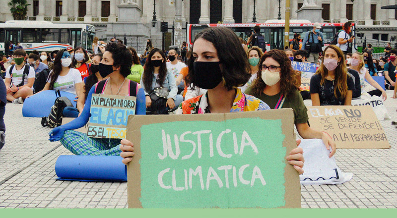 """""""Cambien las políticas, no el clima"""", la sociedad civil volvió a las calles"""