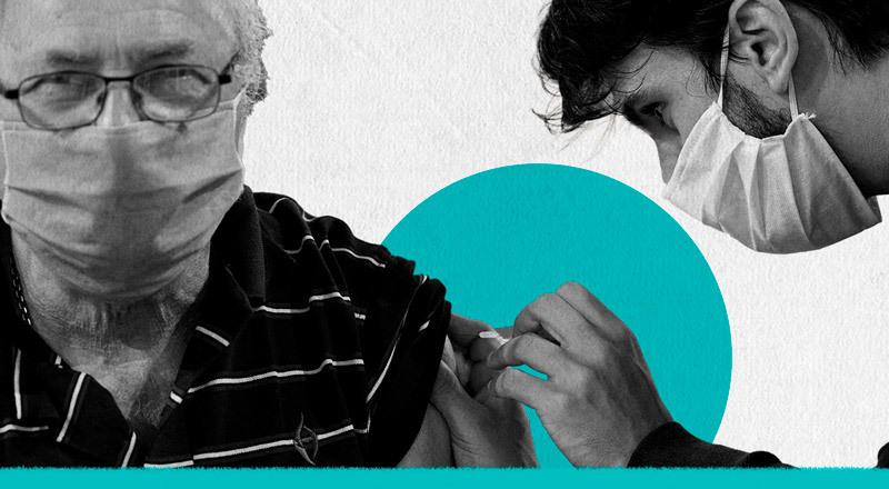 La ternura argentina: el abrazo de una comunidad a quienes van a vacunarse