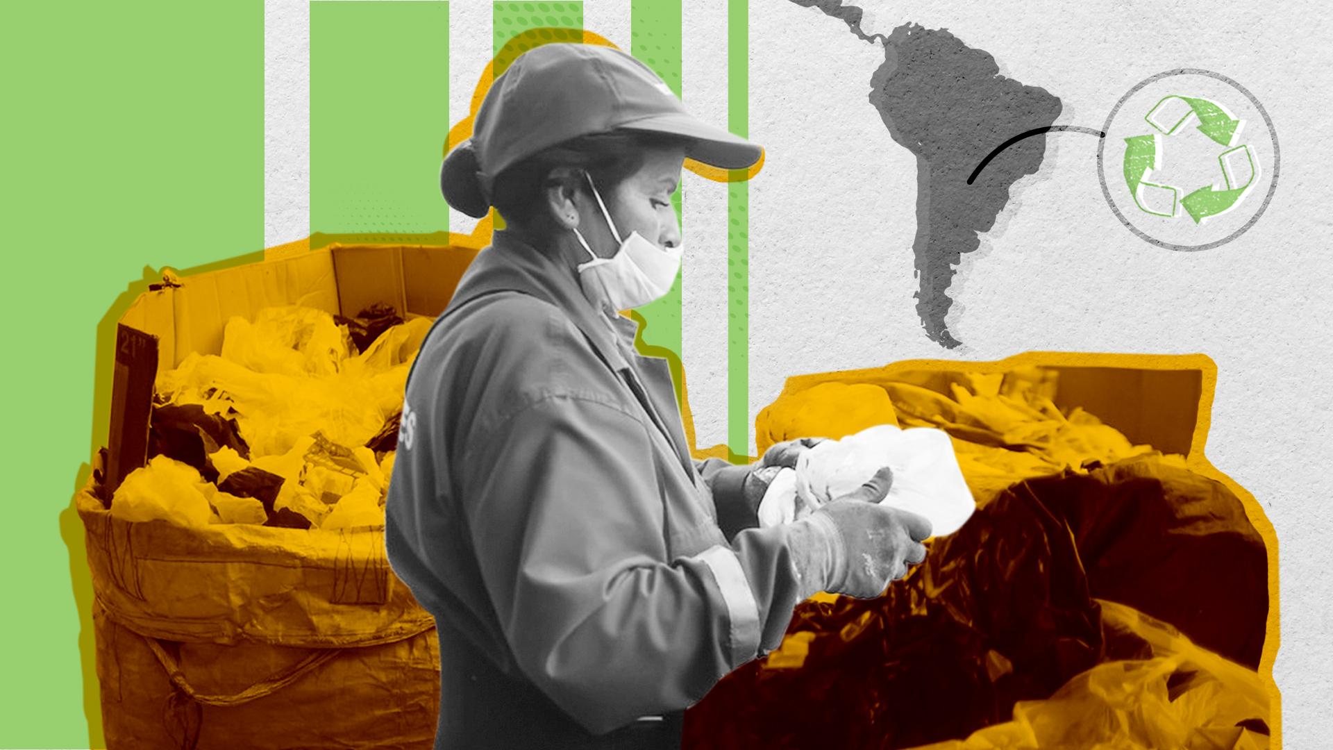 Dos millones de personas en América Latina buscan su sustento en el reciclaje inclusivo