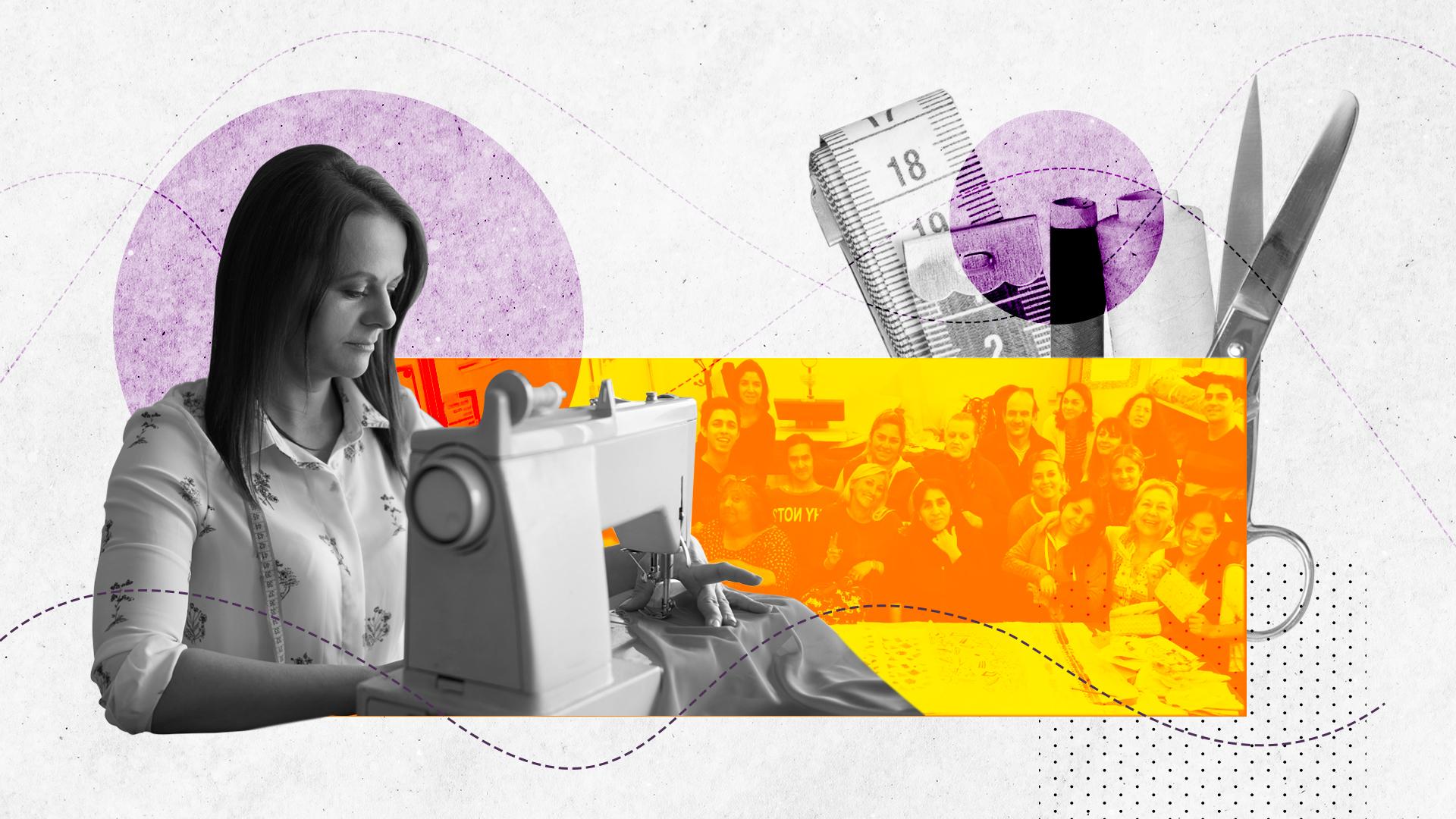 Los cursos de costura la salvaron de la calle: la historia de Cristina García y la organización Cosiendo Redes